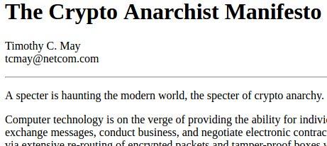 O manifesto criptoanarquista